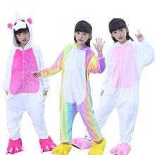 Children's Pajamas for Boys Girls Kigurumi Unicorn Pajamas F
