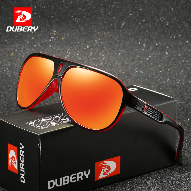 DUBERY Mens Outdoor Sport Polarized Dragon Sunglasses Large Oversized Windproof Cycling Bicycle Bike Driving Fishing Sunglasses