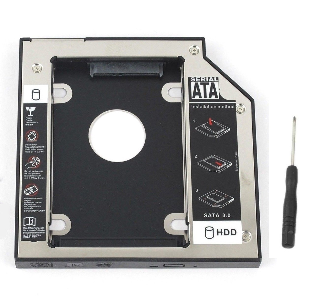 WZSM NEW 9.5mm SATA 2nd SSD HDD Caddy for Lenovo ThinkPad E440 L540 L440 Hard Disk Drive Caddy 9 5mm 2nd sata 2 5 hard disk drive hdd ssd enclosure caddy adapter for lenovo thinkpad l560 l570