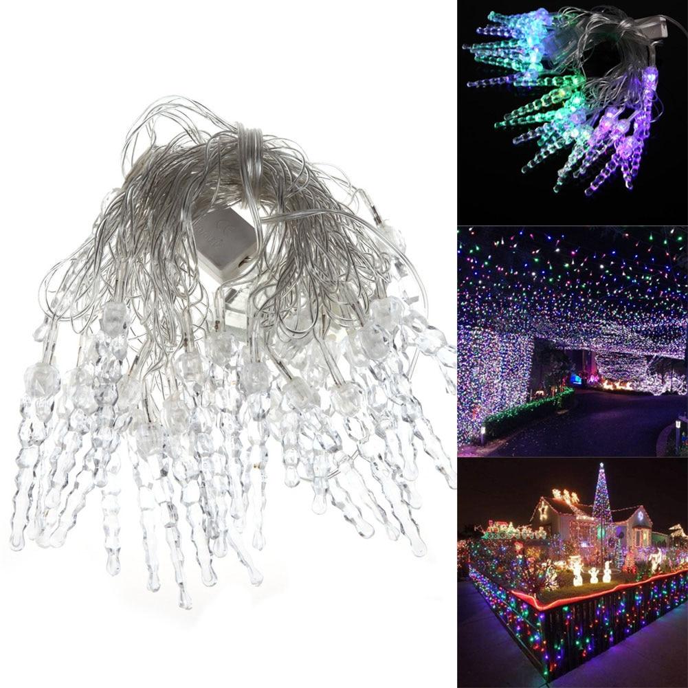 220v 5M 26 LED Crystal Xmas String Lights Christmas Wedding Party Indoor Outdoor Decoration Lamp Multi-color EU plug