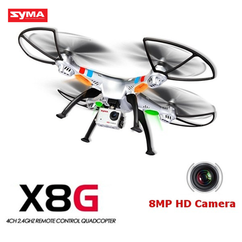 Original Syma X8G 2.4G 4CH Headless Mode RC Quadcopter Helicopter Drones With 8MP HD Camera Model 2 original syma x8g 2 4g 4ch headless mode rc quadcopter helicopter drones with 8mp hd camera model 2