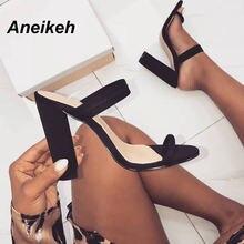 Aneikeh 2021 новые летние сандалии тапочки из эластичной ткани