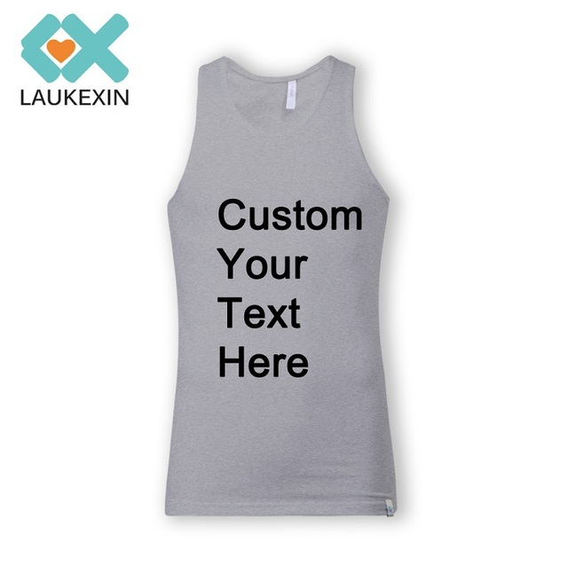 6e17c07d4f New Arrival Fashion Tank Top Men Custom Printed Your Text Summer T Shirt  Sleeveless Bodybuilding Vest Tops Cotton Plus Size