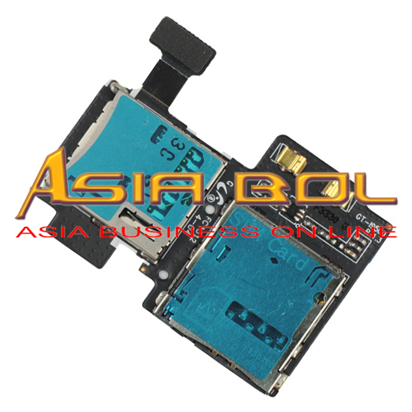 New Micro SD&SIM Card Tray Reader Flex Cable Replacement Parts For S4 IV I9500 L720 M919 R970