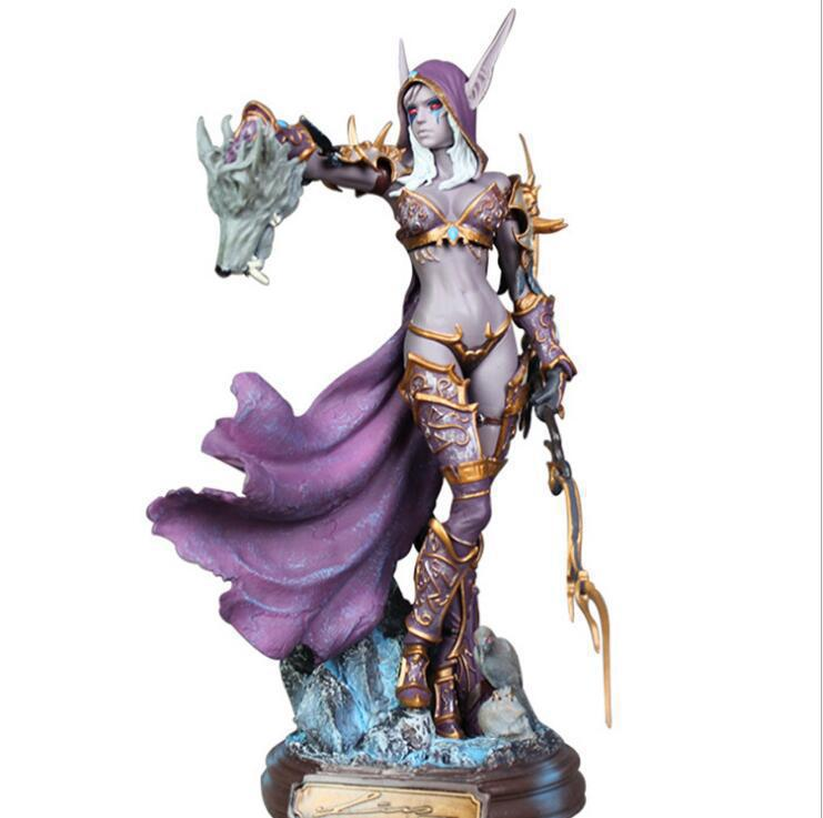 Blizzard Game Character Model World of Warcraft Sylvanas Undead Queen Statue Exquisite Office Decoration Cool Birthday Gift 17cm the grand duelist fiora qian ad yasuo twistfate game character weapon model toy kid gift collection decoration very cool pj
