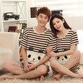 Pijamas Mujeres Conejos Para Hombre de manga Corta Los Amantes del Verano ropa de Dormir Pijamas de Dibujos Animados Mujeres Pijama Conjunto de Salón Más Tamaño
