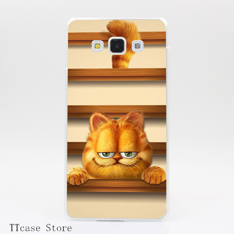 3351CA Stylus Cat Gift Transparent Hard Cover Case for Galaxy A3 A5 A7 A8 Note 2 3 4 5 J5 J7 Grand 2 & Prime