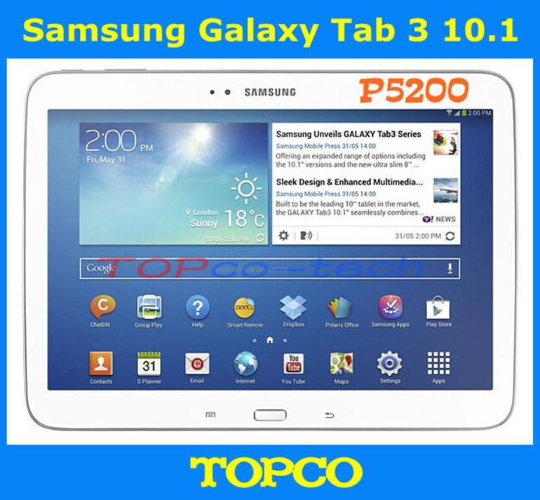 US $224 6 |Samsung Galaxy Tab 3 10 1 P5200 Original Unlocked 3G Dual core  Android Mobile Phone Tablet 10 1