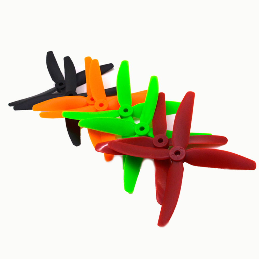 4 pairs FPV 4 blade quadcopter propeller 5045 CW CCW ABS Propeller Props Four-Blade X5045 4 leaf for FPV UAV racing Drone 4pcs lot kingkong glow in the dark 5040 6040 5045 6045 propeller cw ccw for rc qav250 quadcopter multicopters 2 pairs