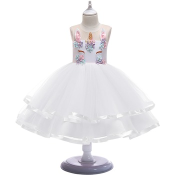 White Flower Unicorn Dress
