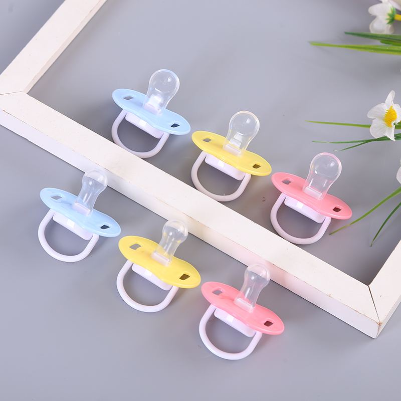 3 Months - 1 Year Old Child Sleep Pacifier Baby Silicone With Lid Pacifier Baby Comfort Mood Pacifier