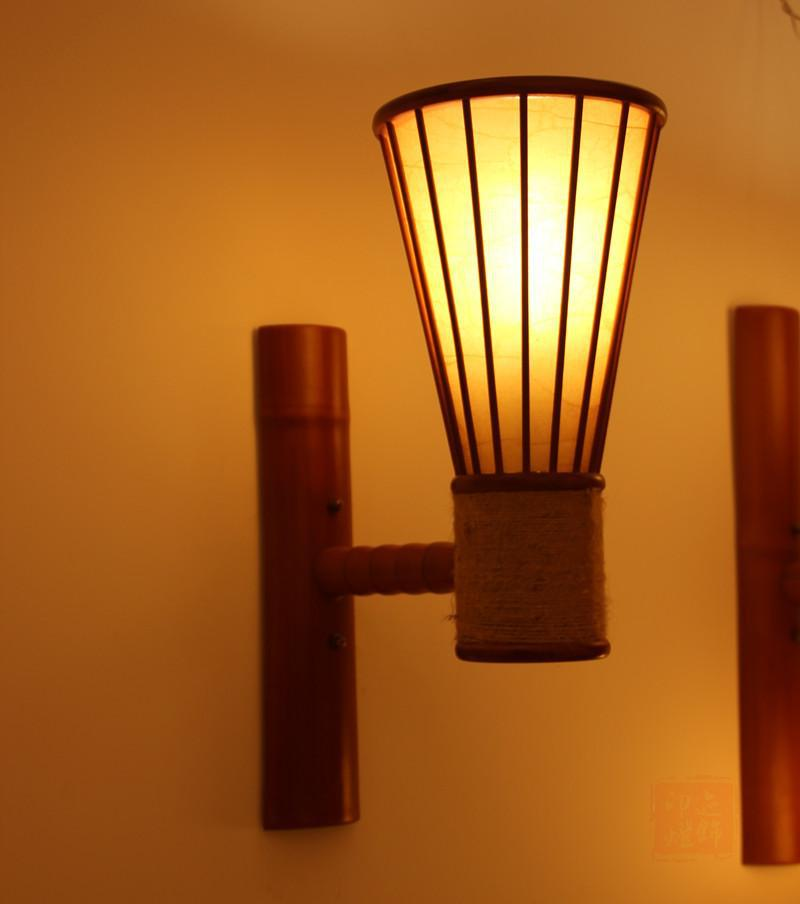New chinese japanese bamboo wall lamp shade idyllic rural retreat new chinese japanese bamboo wall lamp shade idyllic rural retreat southeast mirror painting lamp wall lamp bedroom lamp in wall lamps from lights lighting mozeypictures Images