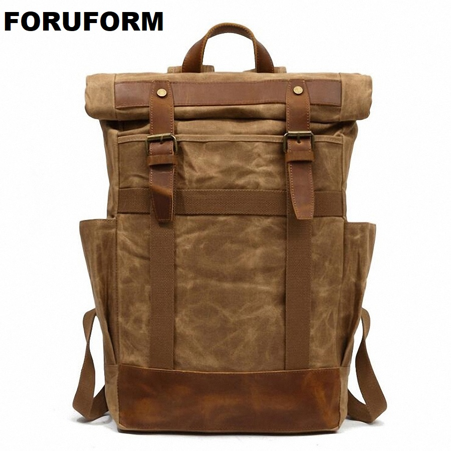 Waterproof Man's Canvas Backpack Travel Schoolbag Male Backpack Men Large Rucksack Shoulder School Bag Mochila Escolar LI-2126 girsl kid backpack ladies boy shoulder school student bag teenagers fashion shoulder travel college rucksack mochila escolar new