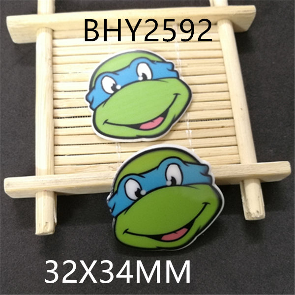 Free shipping 32x34MM 10pcs/lot cartoon old character planar resin BHY2592