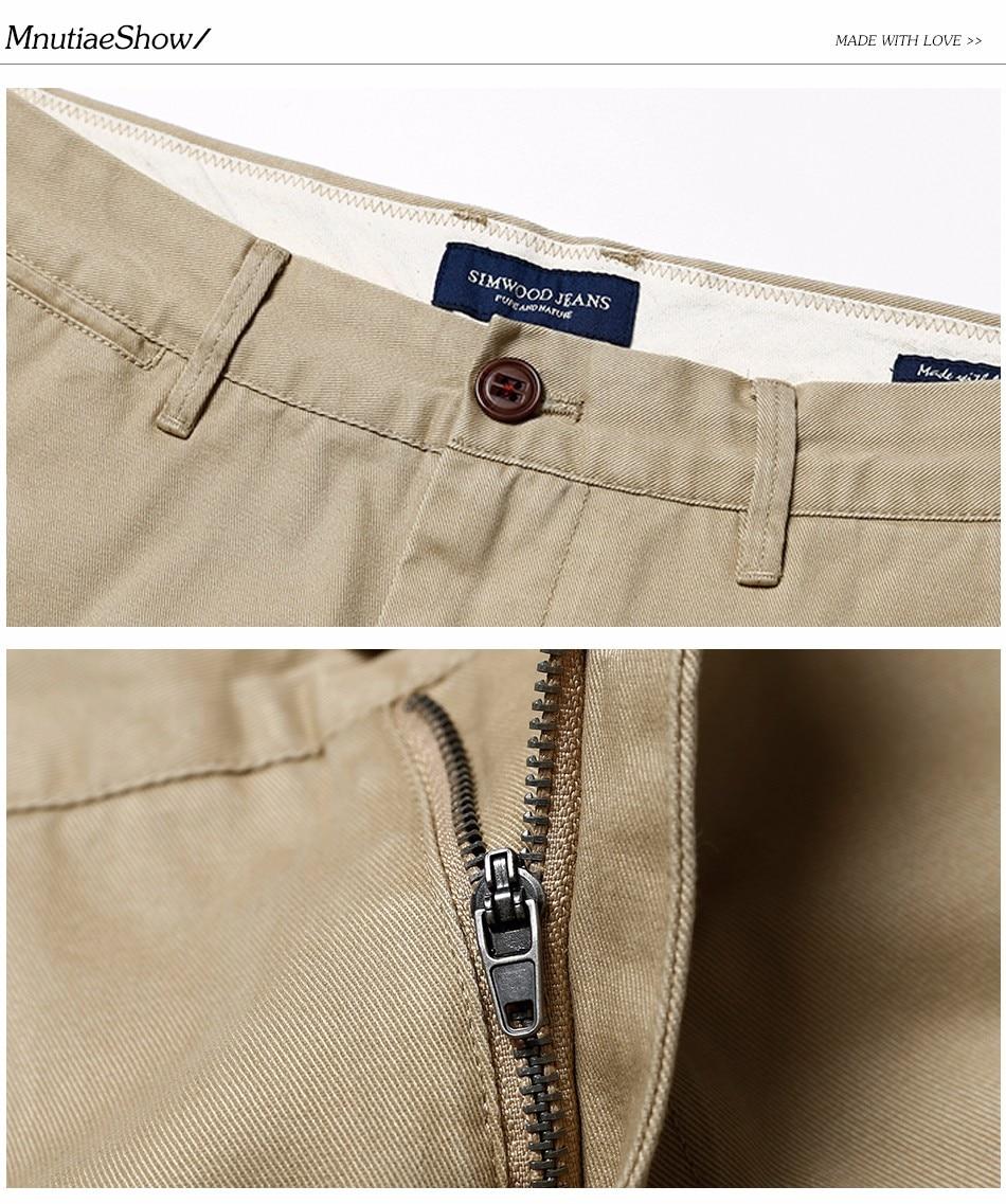 HTB1Fr7ZXiLrK1Rjy1zdq6ynnpXa5 Simwood Brand Autumn Winter New Fashion 2019 Slim Straight Men Casual Pants 100% Pure Cotton Man Trousers Plus Size KX6033