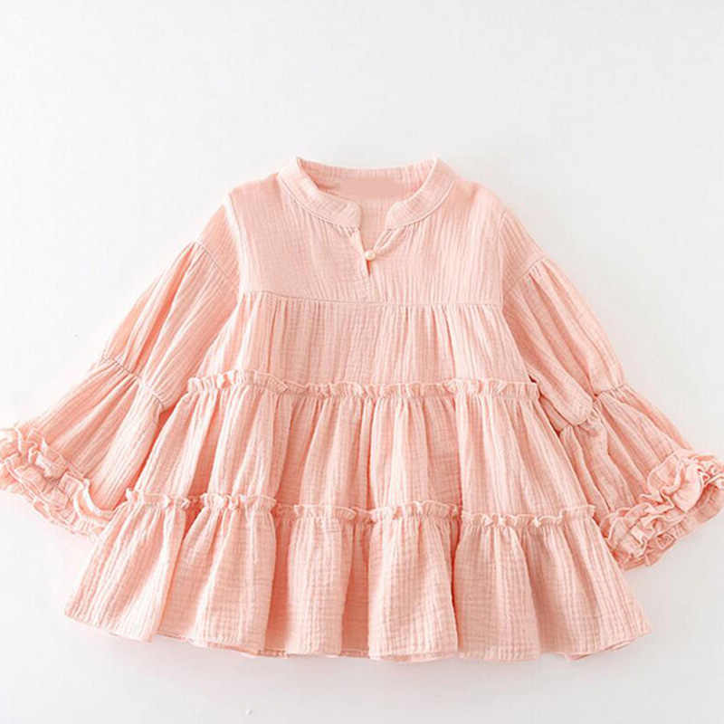 6933fd68ada77 Big girls shirt autumn winter casual long sleeve pullovers toddler kids  blouse cotton tops children clothes