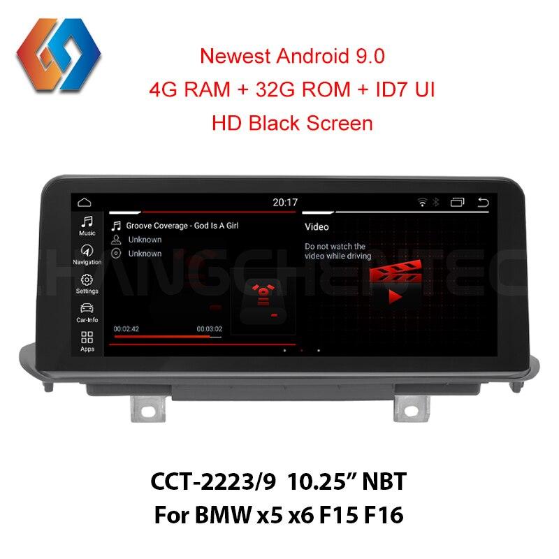 Premier venu nouveau Android 9.0 pour BMW x5 x6 F15 F16 avec HD écran noir haute résolution 1920x720 4G ram 32 rom voiture GPS multimédia