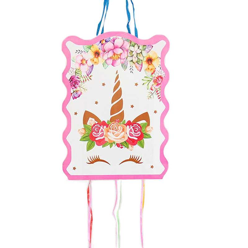 1 Набор 29*40 см Единорог бумажная Складная пиньята детские штаны для мальчиков и девочек праздничные украшения для дня рождения украшения на день рождения вечерние игра игрушка подарок