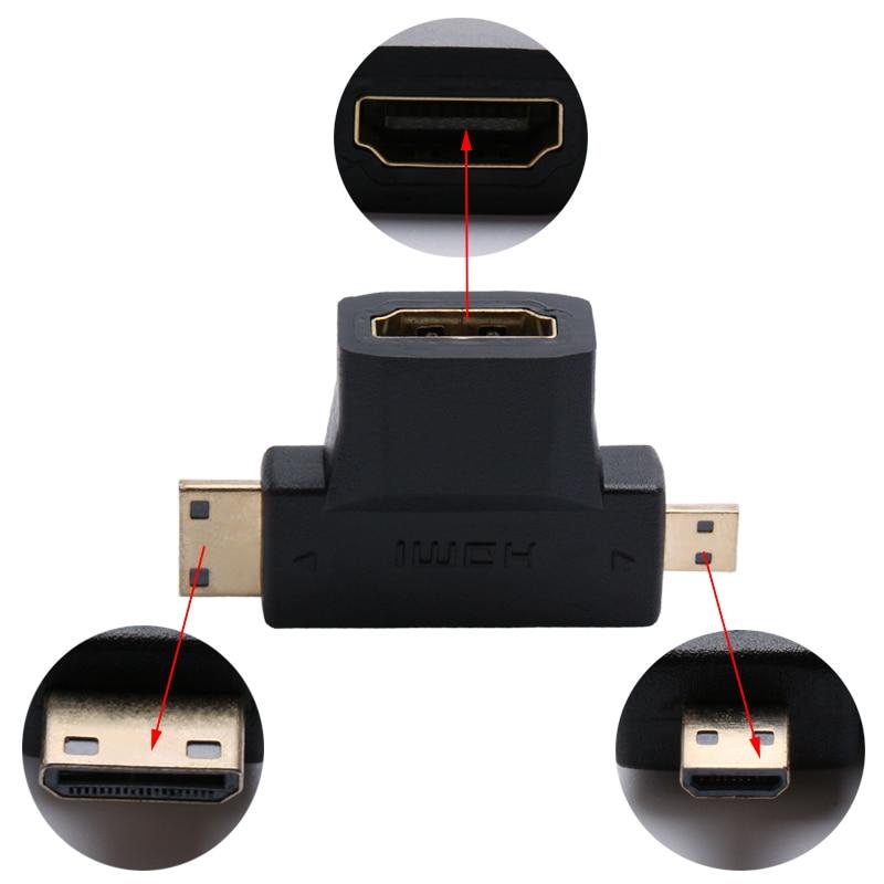 SR 3 en 1 1080P Adaptador Convertidor de Video 1.4 V Chapado en Oro - Cables de computadora y conectores - foto 4