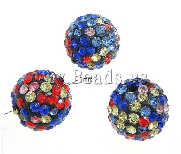 New 12MM 10pcs   lot Chunky Resin Rhinestone Beads Bling Resin Ball Beads  for Chunky Kid Necklace Jewelry-in Beads from Jewelry   Accessories on ... 8a39d0f2f99a