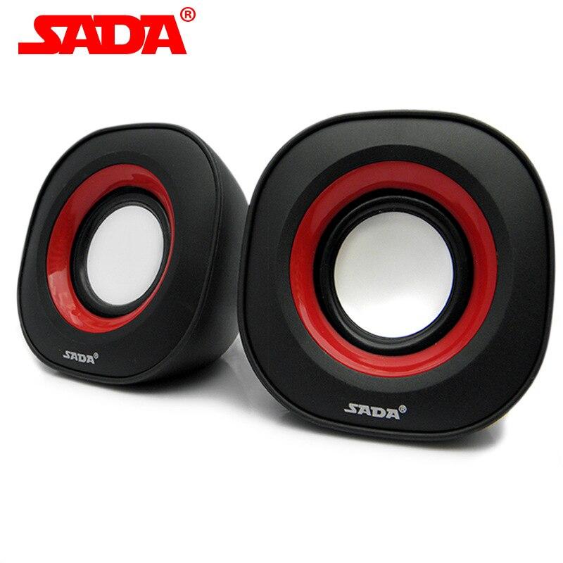 SADA Mini Portable Subwoofer Computer Speaker 3.5mm Speaker USB2.0 Power Plug for Desktop PC Laptop MP3 Cellphone