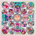 130 cm * 130 cm de la India figura cabeza Sarga de seda bufanda de las mujeres 2017 nueva mujer poncho bufandas bandana de la india cachecol sciarpa A151