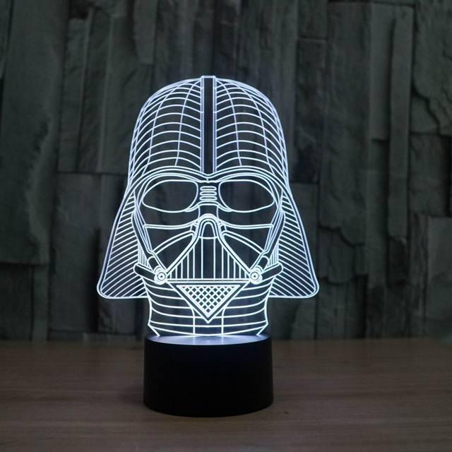 Increíble Ilusión 3D Estrella llevó La Lámpara de Mesa lámpara de Luz de La Noche con decoraciones de star wars darth vader FS-2833