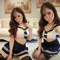 Envío gratis las nuevas mujeres de DS lencería Sexy trajes Sexy uniformes escolares uniformes de marinero tentación pijamas traje de falda