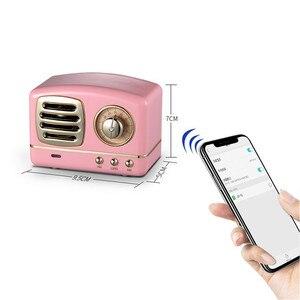 Image 5 - Haut parleur radio Bluetooth nordique rétro Mini haut parleur Bluetooth sans fil Portable Radio USB/TF carte lecteur de musique Subwoofer decore