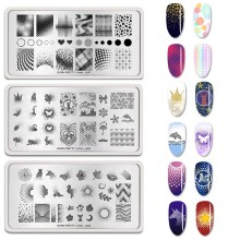 BORN PRETTY 12*6 CM Rectangle Nail Stamping Plates Artist Series Maple Leaf Pattern Art Stamp Template Tool