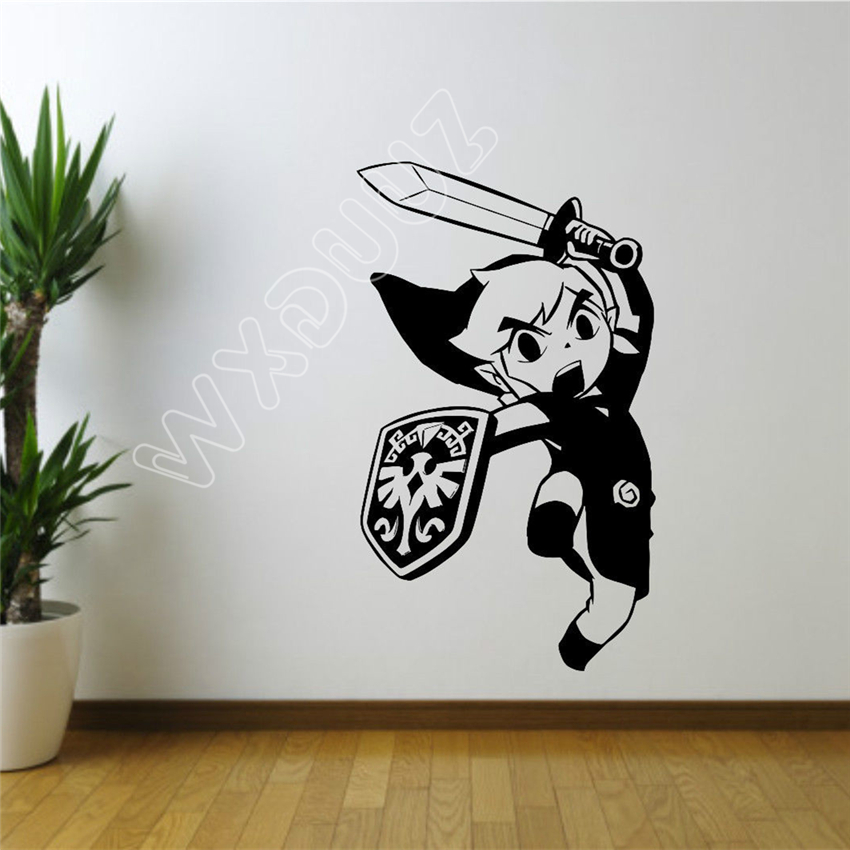 Cartoon Legend of Zelda Sticker Wall Room Decor Art Poster Gaming Vinyl Decal DIY Mural Nursery Kids Room Wall Sticker B406 ...