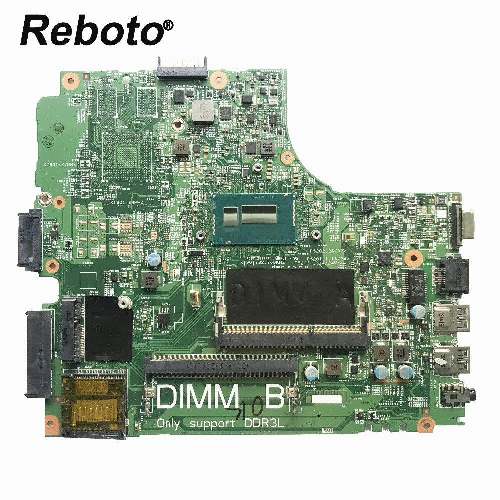 Reboto CN-0W65G8 For DELL 3440 Laptop Motherboard With SR1EF i5-4210U 0W65G8 W65G8 DDR3L MainBoard 100% Tested Fast Ship