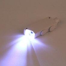Мини ручной 160X-200X зум Лупа Микроскоп Ювелиры Лупа увеличительное стекло светодио дный светодиодный свет