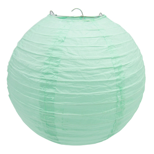 """Image 3 - 20 pçs 6 """" 12"""" mint lanternas de papel verde chinês japonês lampion redondo para festa de casamento lampion de mariage pendurado decoração diy"""