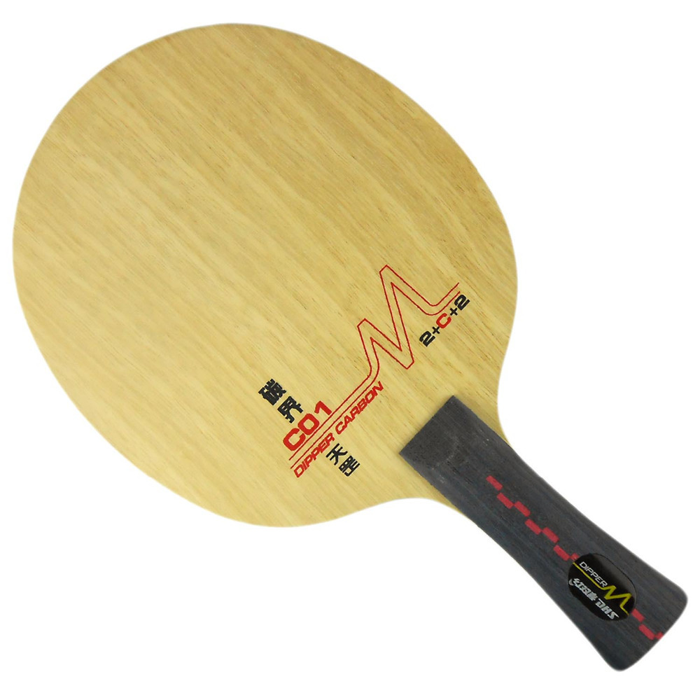 DHS DM.C01 Table Tennis Blade (Shakehand-FL) for PingPong Racket dhs dipper sp02 sp 02 sp 02 inner carbon all table tennis blade fl for pingpong racket