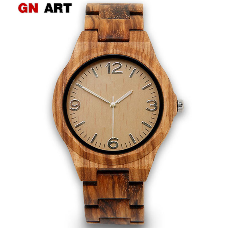 GNART01 الخشب الساعات رجل الإبداعية - ساعات رجالية