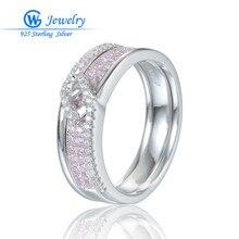Naturel rose pierre bague de mariage en argent Sterling véritable femmes anneaux anillos plata mujer 925 gros Gw bijoux RIPY067H50