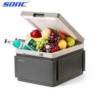 SOAC Portable Car Refrigerator 12L Auto Interior Fridge Drink Food Cooler Warmer Box Fruit Fresh keeping Cabinet Freezer camping