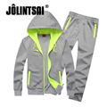 Jolintsai Hoody Patchwork Tracksuit Men 2017 Sportwear Men Zipper Plus Size XXXXL Hoodies Sweatershirts Set Sweat Suits Mens