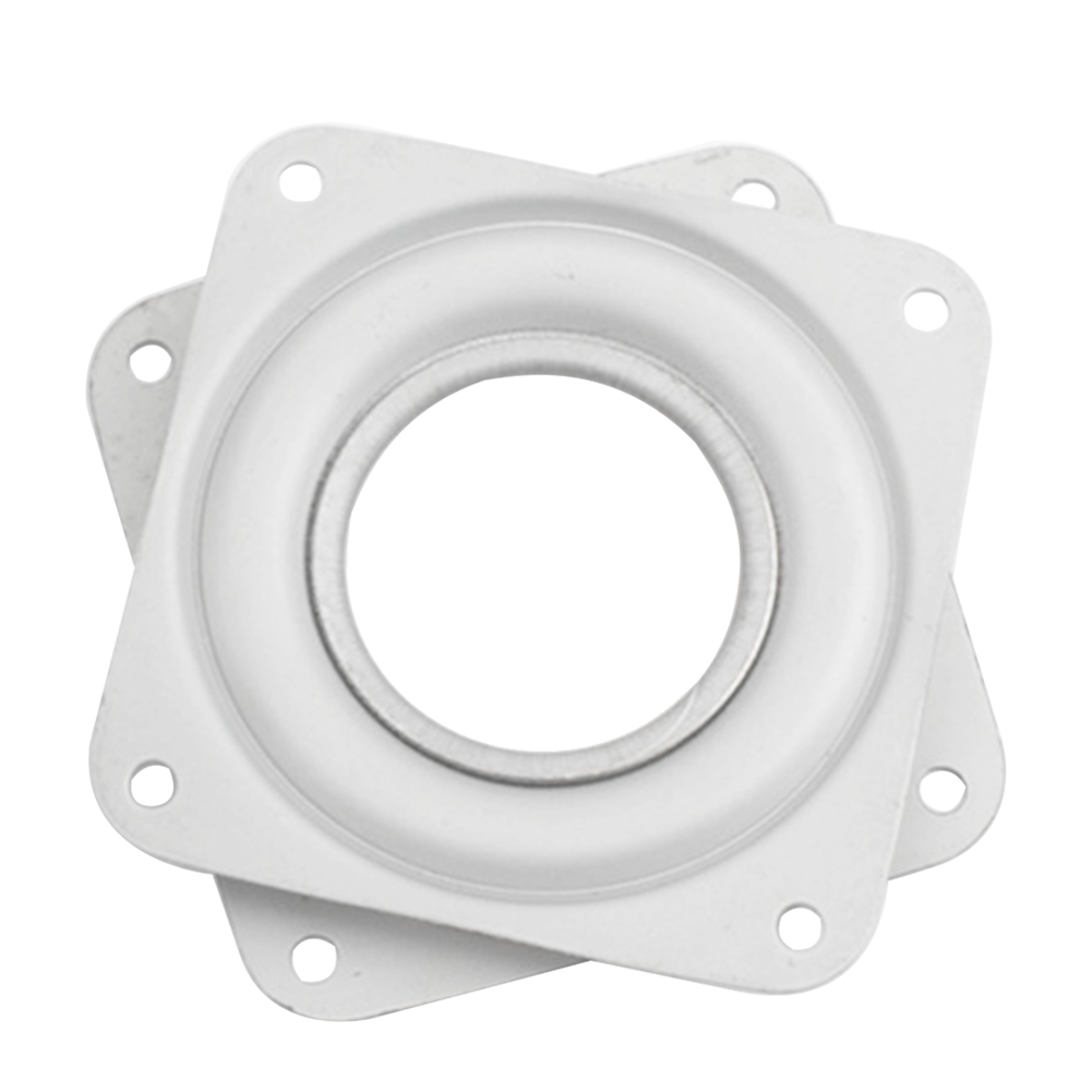 3 Inch Desk Hardware Fitting Turntable For Dining Table Furniture Home Iron 360 Degree Rotating Bearing White Square Plates We Take Customers As Our Gods Furniture Hardware