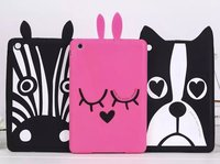 3D Cartoon Dog Zebra Rabbit Design Fundas Cover For IPad 2 3 4 Air 1 2