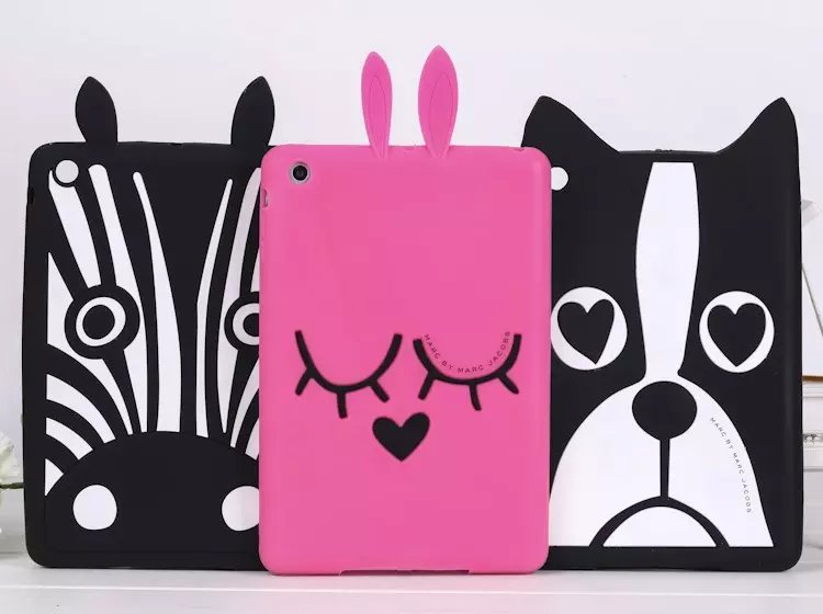3D Soft Cartoon Dog Zebra Rabbit Coque For iPad Air 1 2 Cover Silicon Case For iPad Mini 1 2 3 4 Coque For iPad 2 3 4 Case