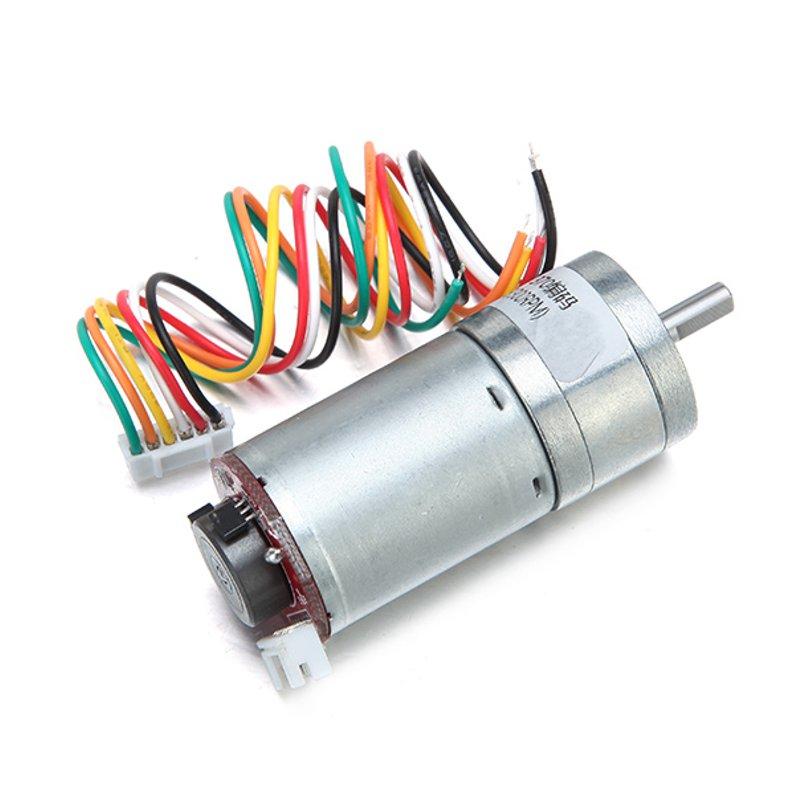 6V 100/210/300RPM Encoder Motor DC Gear Motor 12v 125rpm encoder 41 line dc micro gear motor silver