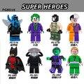 80 unids/lote pg8018 building block dc super hero chico bestia el acertijo de villanos joker bane batman figuras compatible ladrillo juguetes