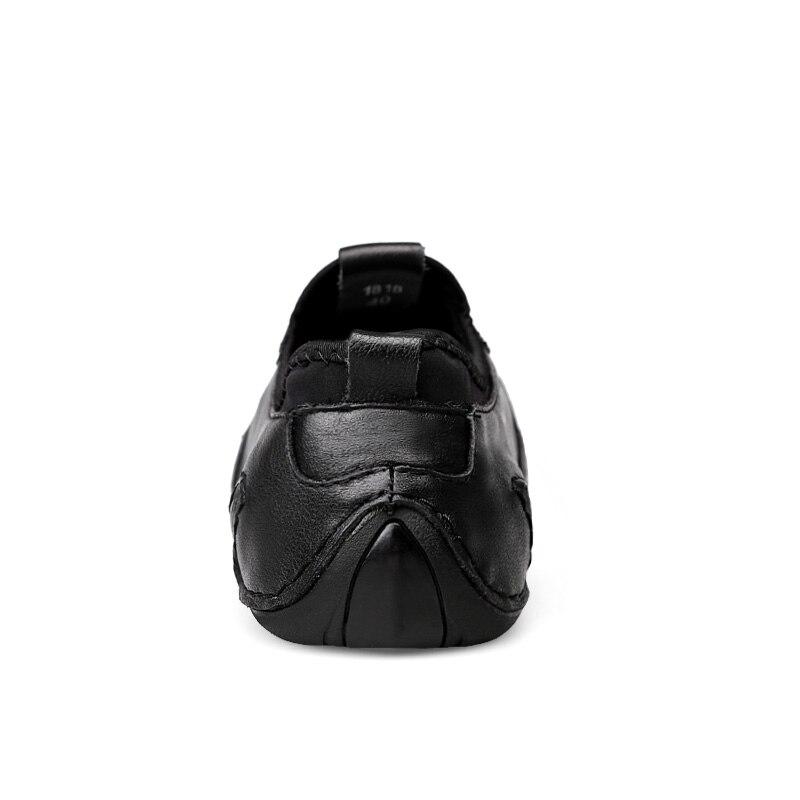 Confortables Cuir Qualité De W4 Respirant Hommes Haute Chaussures Dressing Black Appartements Mode Air Véritable Casual Plein En WYE29HID