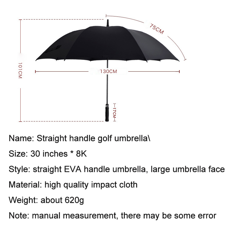 strong windproof Long Straight handle men parapluie <font><b>umbrella</b></font> Creative large Outdoor Male women Business <font><b>Big</b></font> Black <font><b>Umbrellas</b></font> Z618 image