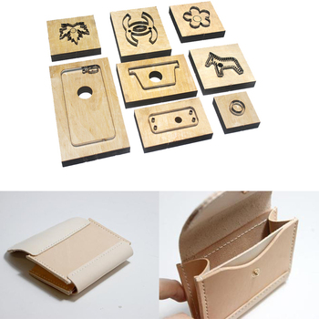 Japan Steel Blade Rule Die Cut Steel Punch Card Holder Cutting Mold Wood Dies for Leather Cutter for Leather Crafts 110x90mm
