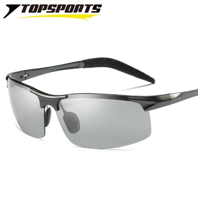 e7bec6bca0 TOPSPORTS photochromic polarized Sunglasses sports men driving fishing  color change Glasses UV400 eye protective Eyewear