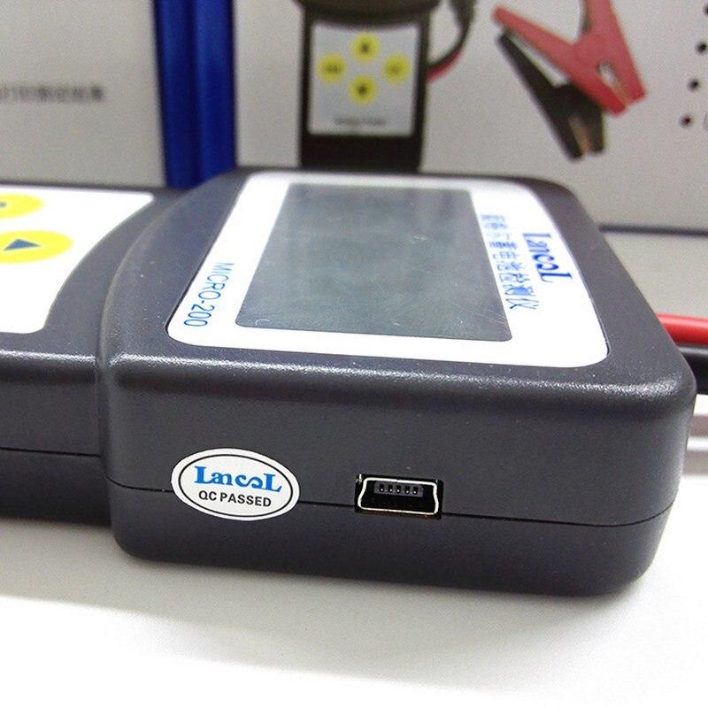 Image 4 - Lansl MICRO200 цифровой тестер батареи 12 В тестер емкости батареи CCA автомобильный инструмент для диагностики батарей Анализатор батареи-in Тестеры аккумуляторов from Автомобили и мотоциклы