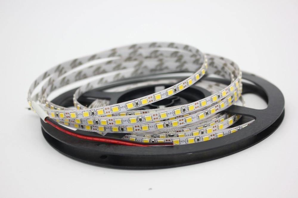 Image 3 - 12V 2835 LED Strip 5mm Slim Strip IP20 Non Waterproof 120leds/M 5m/Roll LED Strip White/Warm White white PCB-in LED Strips from Lights & Lighting